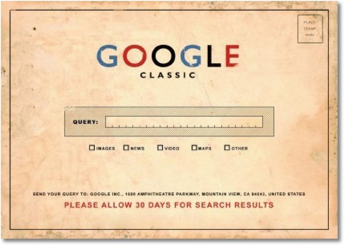 Google Postkarte