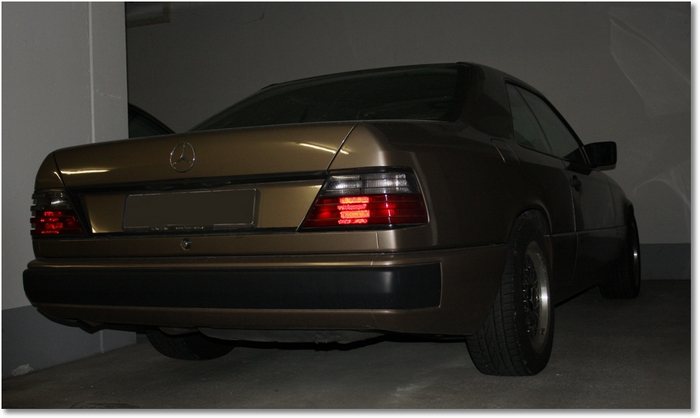 Mercedes W124 Coupe goldbraun