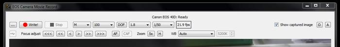 Funktionen des EOS Movie Recorders