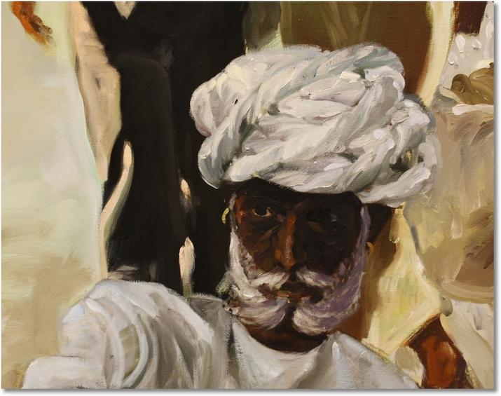 indischer Mann mit Turban