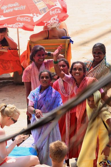 Frauen an Holi
