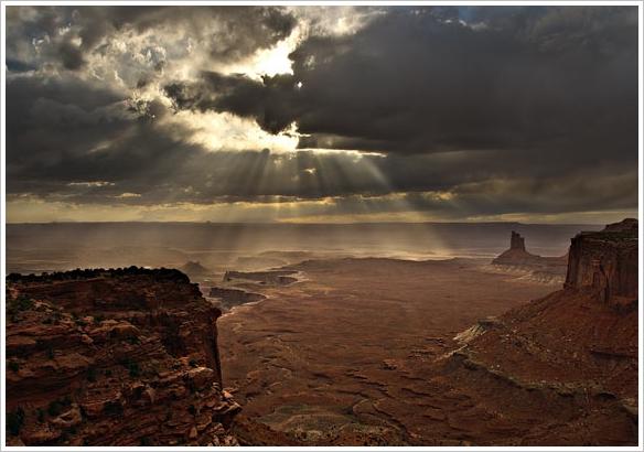Canyon Sonnenstrahlen