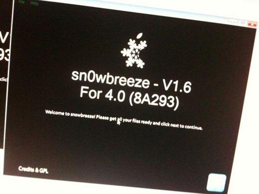 Sn0wbreeze v1.6 iOS4